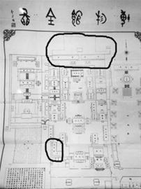 1929年的沈阳故宫全图。 北国网、辽沈晚报主任记者 王志东 摄