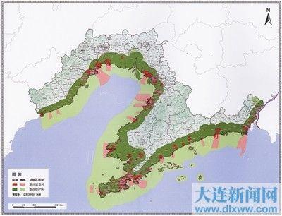 行政区划涉及丹东,大连,营口,盘锦,锦州,葫芦岛6市的28个县(县级市,区