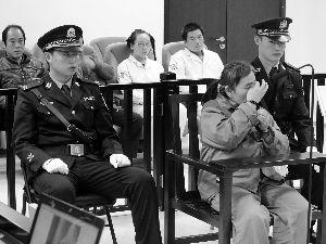 兰某在庭审中。晨报记者 郝笑天/摄