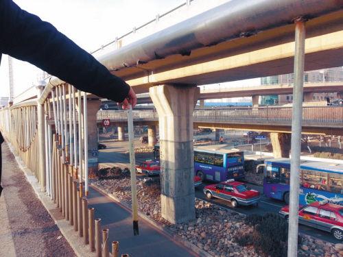 和平区公和立交桥损坏图
