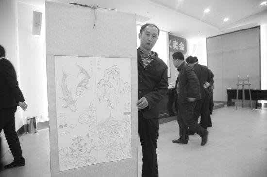 杨树清的烫画作品 半岛晨报、海力网摄影记者范佳德