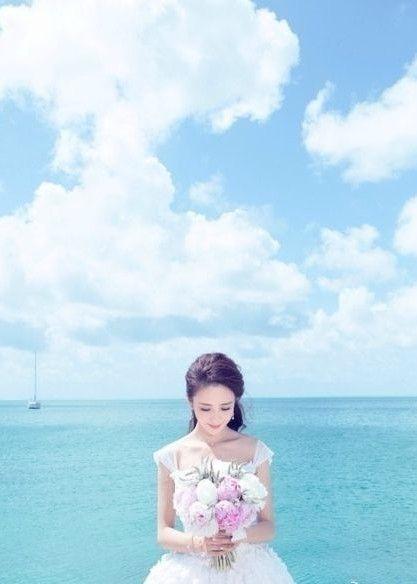 佟丽娅唯美婚纱照