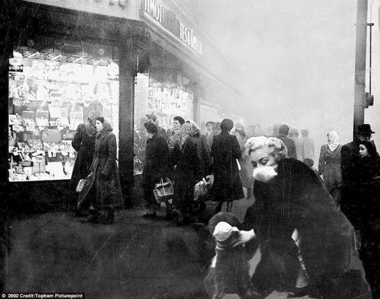 当年的伦敦雾霾灾害使得整个城市变成一个毒气室