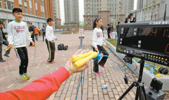 """沈阳市首批45所学校试点""""运动健身智能分析监管系统""""。"""