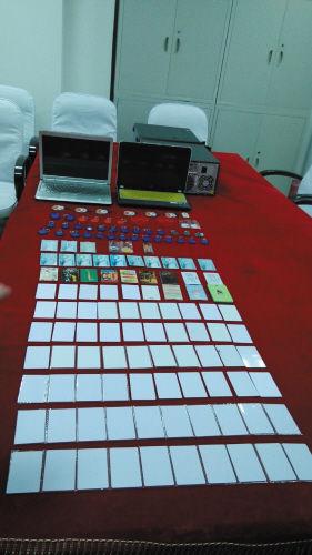 警方收缴了复制明珠卡的作案工具和卡片。