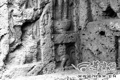 """北魏窟龛群中现1600年前""""招财猫"""""""