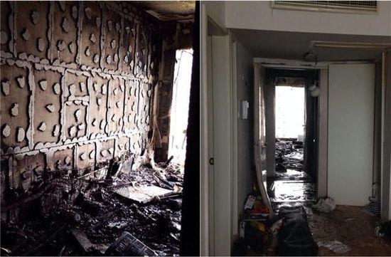 被炸后的房间