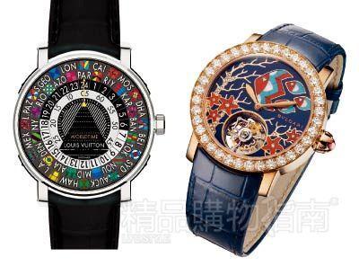 Louis Vuitton Escale Worldtime 油彩世界时计腕表、BVLGARI Il Giardino Marino di Bvlgari 海底幻境珠宝工艺腕表