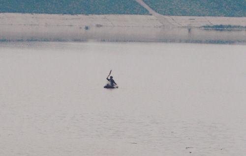 浑河河面上出现盗捕者的身影