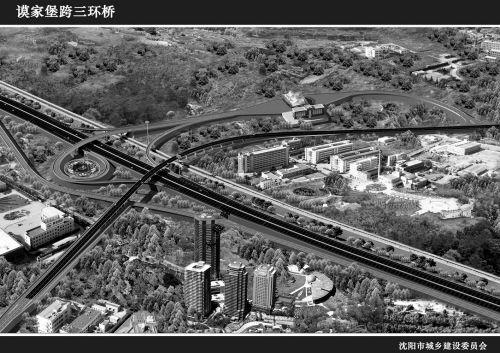 谟家堡收费站跨线桥效果图