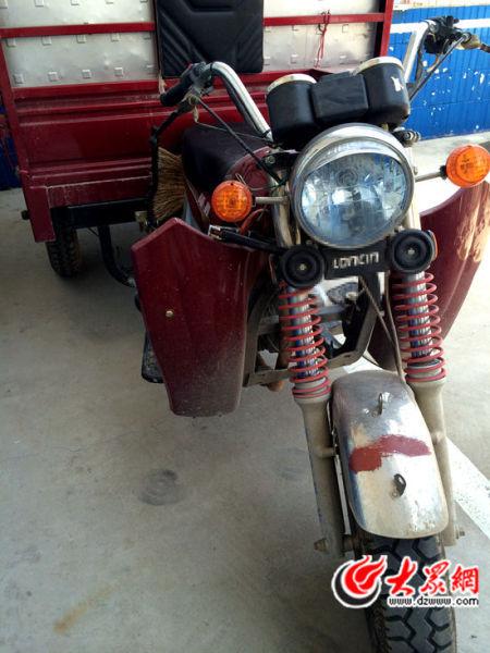 犯罪嫌疑人对受害人实施强奸的三轮摩托车
