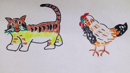 母亲手绘图:女儿是老虎