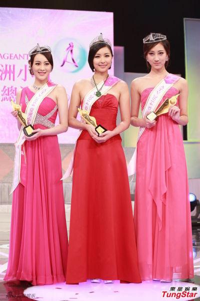 "ATV2014亚洲小姐大中华总决赛昨日举行。冠亚军的佳丽分别是唐淑薇与陈洋铃,而季军则是有翻版""钟嘉欣""之称的韩飞儿。"