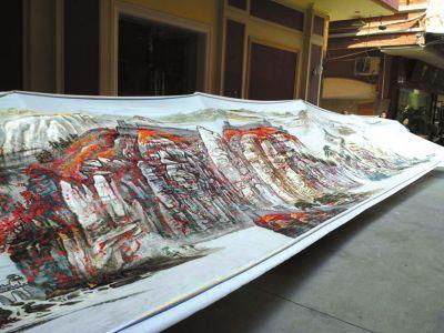 150名绣工绣制16米长潮绣将申报吉尼斯(图)
