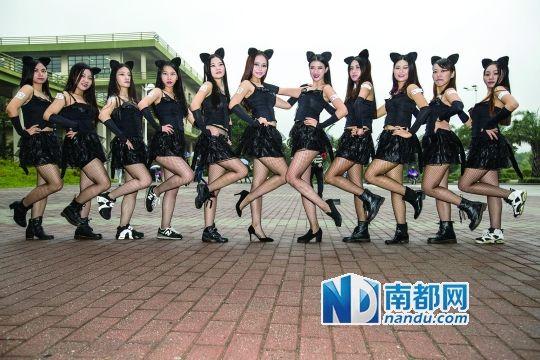 11名猫女郎大学城快闪 呼吁使用安全套(图)