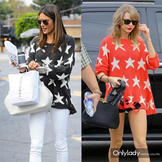潮女看这里 一件星星针织衫瞬间拥有美式时尚