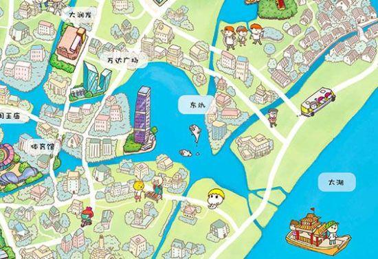 《q版宜兴》中包含了《宜兴手绘地图》以及《宜兴