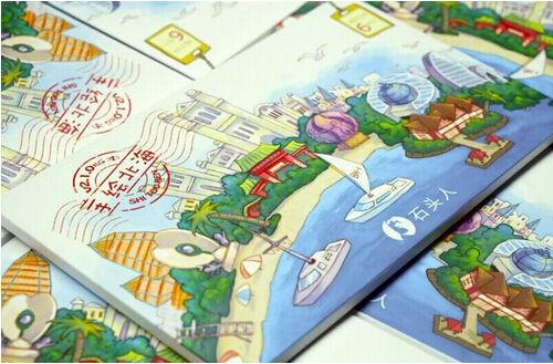 北海旅游纪念品top1:北海手绘地图攻略