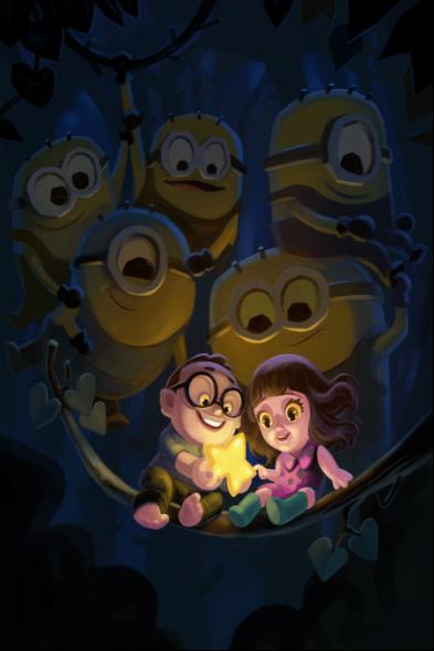 周鹏所创作的动画场景设计作品分别在2012年和2013年