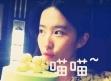 刘亦菲与好友庆生