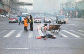酒驾男撞死环卫工