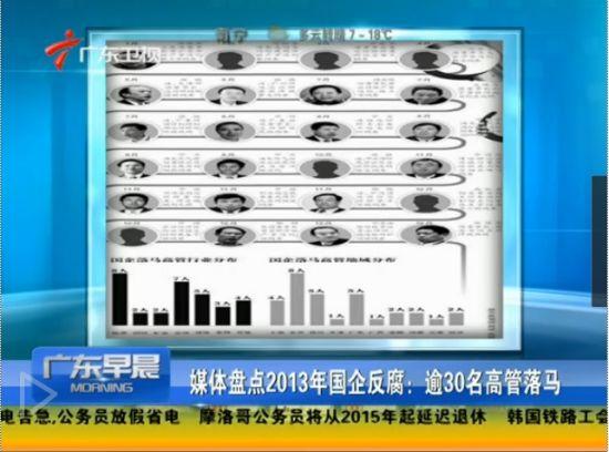 2013年国企反腐逾30名高管落马
