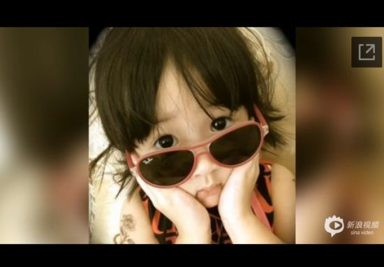 吴尊3岁女儿正面照曝光